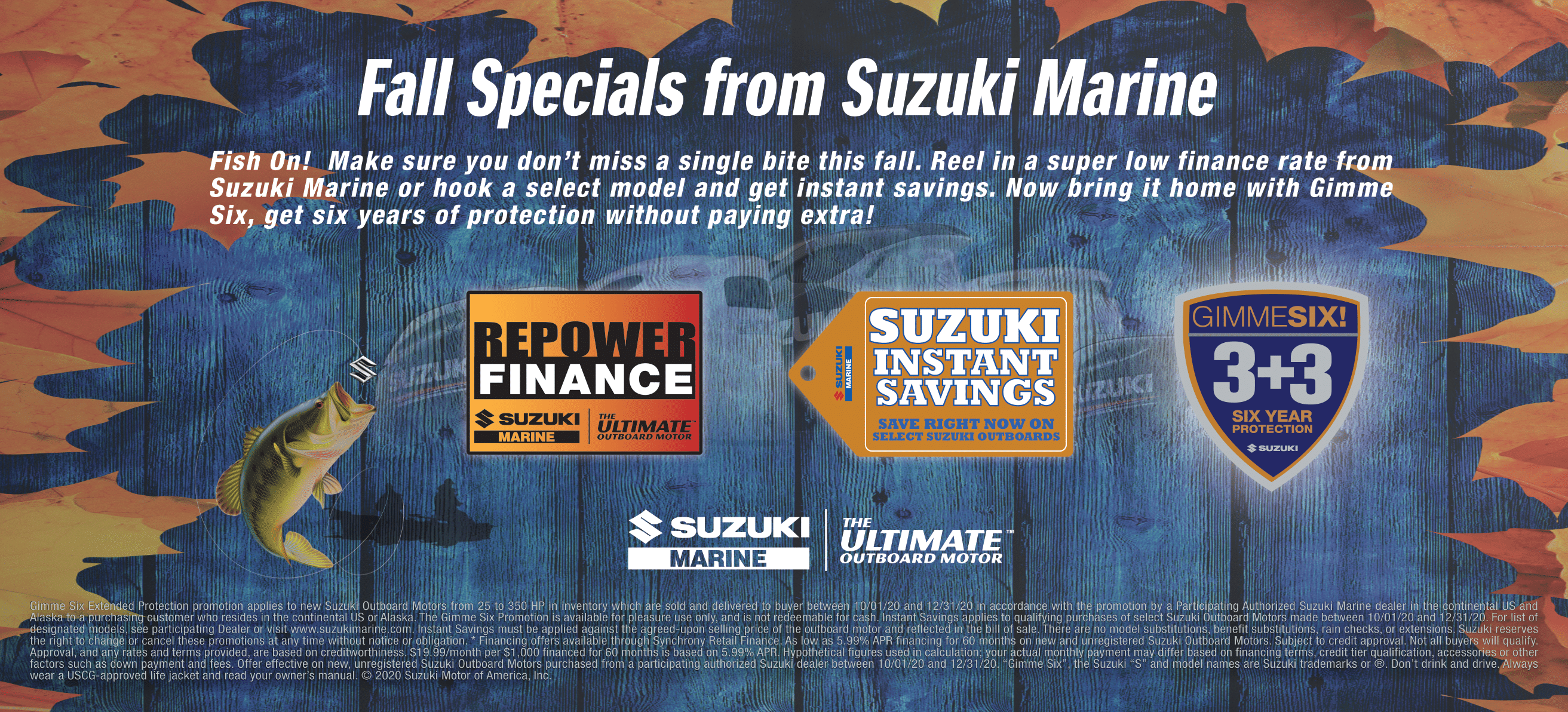 Fall Specials From Suzuki Marine